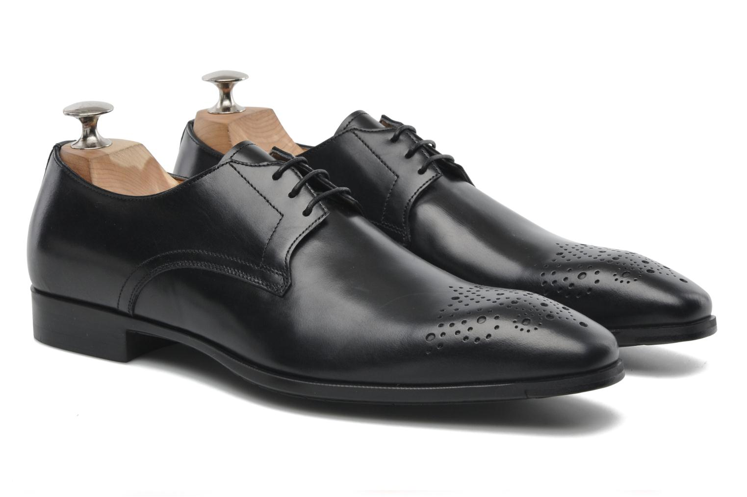 Lace-up shoes Santoni Marlone 11020 Black 3/4 view