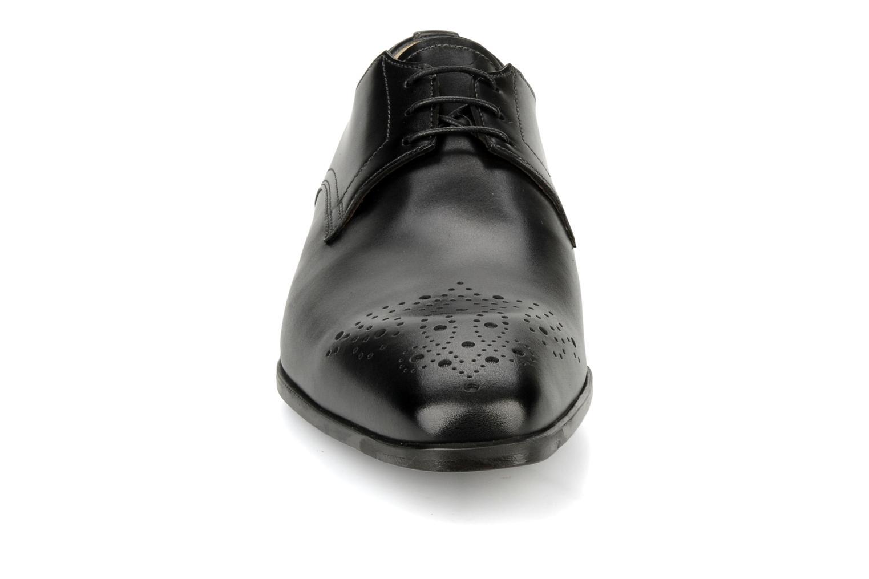Schnürschuhe Santoni Marlone 11020 schwarz schuhe getragen