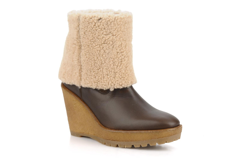 Boots en enkellaarsjes Pare Gabia Nelice Bruin detail