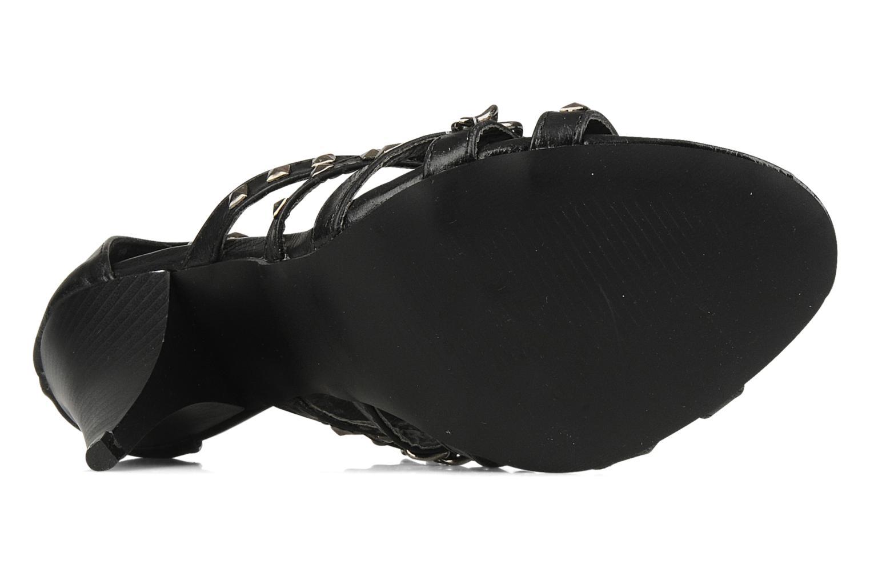 Sandales et nu-pieds Spot On Cindy Noir vue haut