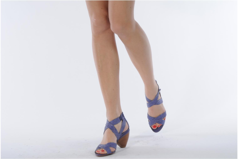 Sandales et nu-pieds Miezko Lina Violet vue bas / vue portée sac