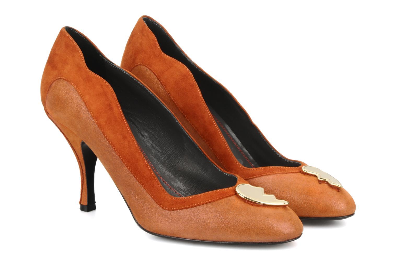 High heels Amelie Pichard Isabella r Brown 3/4 view