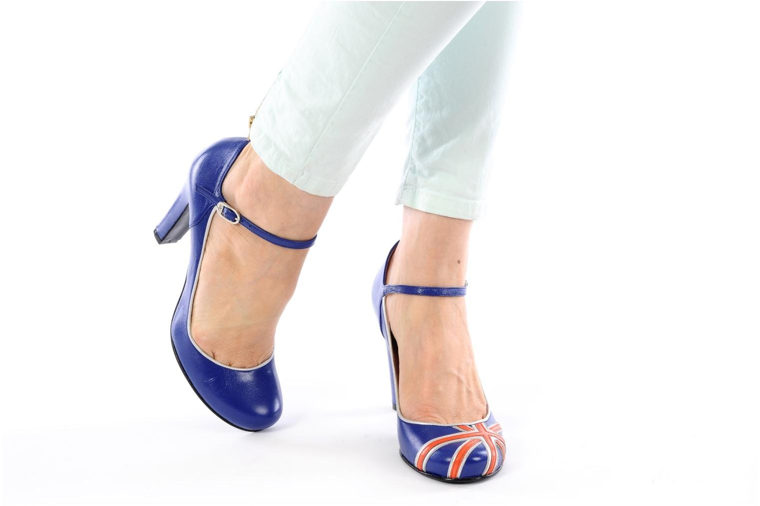 High heels Annabel Winship Ice tea Blue view from underneath / model view