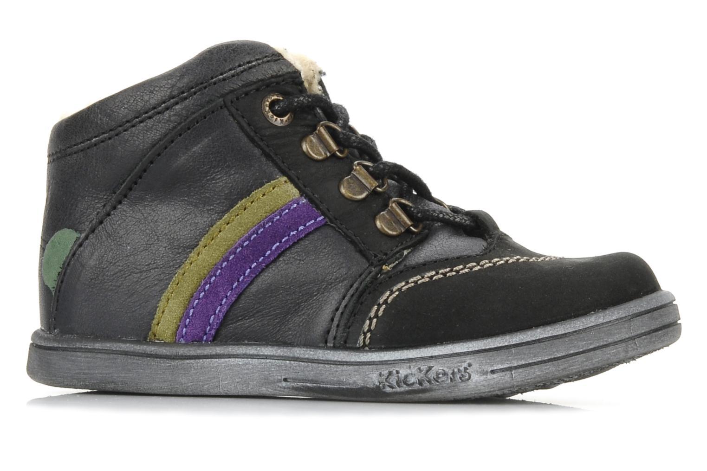 Boots en enkellaarsjes Kickers Tao Zwart achterkant