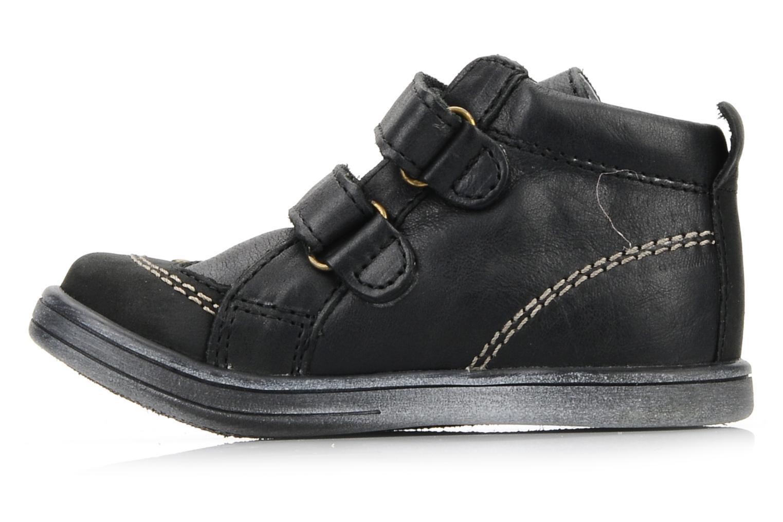 Schoenen met klitteband Kickers Taylor Zwart voorkant