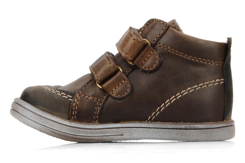 Schoenen met klitteband Kickers Taylor Bruin voorkant