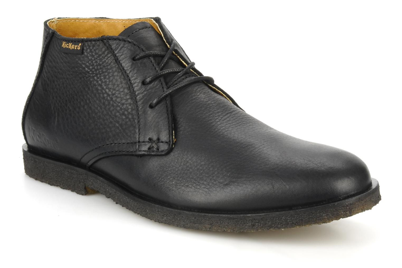 Chaussures à lacets Kickers Jazzy Noir vue détail/paire