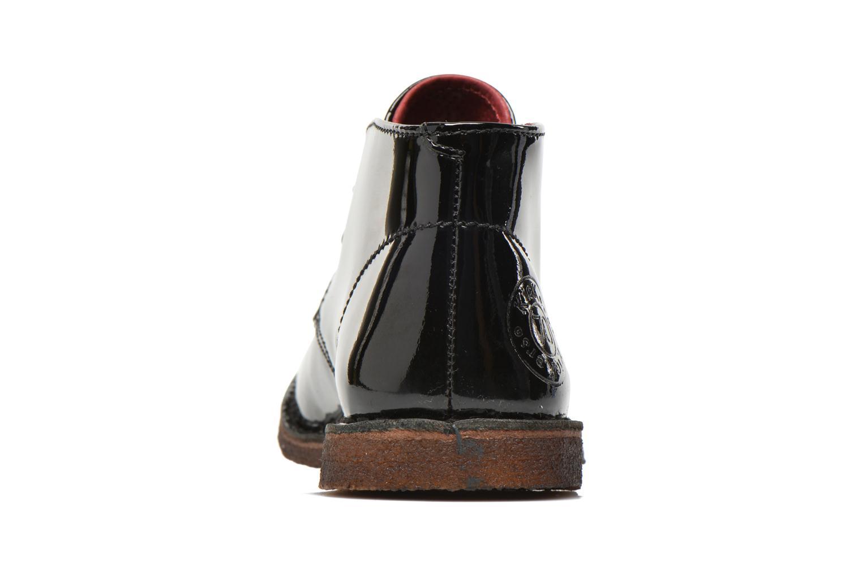 Chaussures à lacets Kickers Crepy Noir vue droite