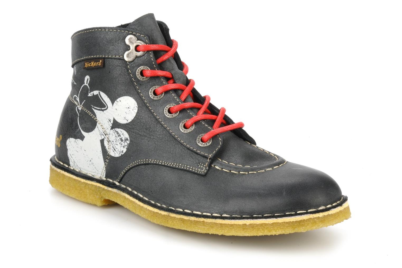 Bottines et boots Kickers Legend mickey Gris vue détail/paire