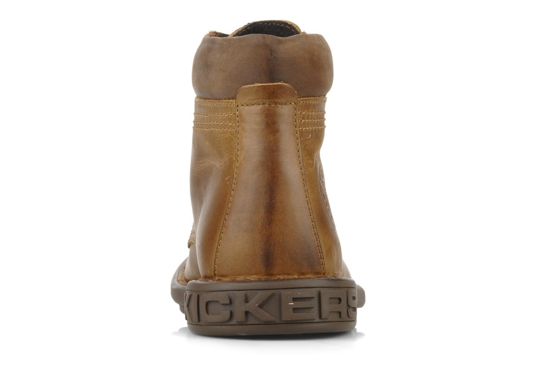Bottines et boots Kickers Koloc Marron vue droite