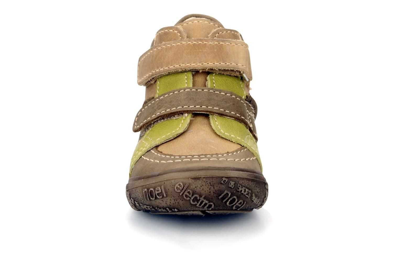 Chaussures à scratch Noël Mini riton Marron vue portées chaussures