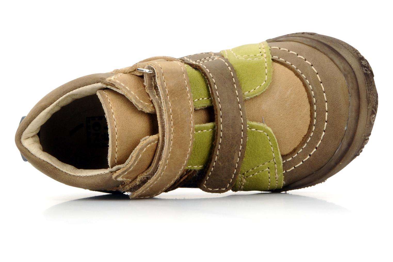 Chaussures à scratch Noël Mini riton Marron vue gauche