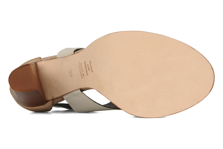 Sandalen Tila March Sandal patch beige ansicht von oben