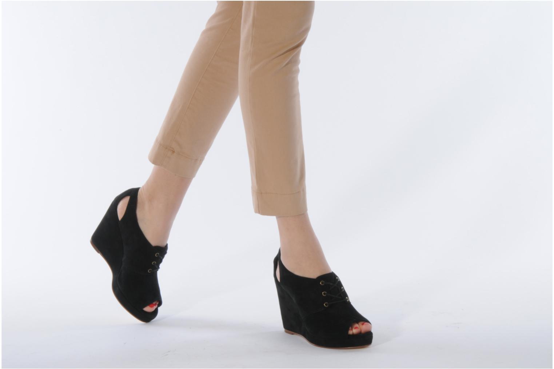 Scarpe con lacci Tila March Wedge derby Nero immagine dal basso