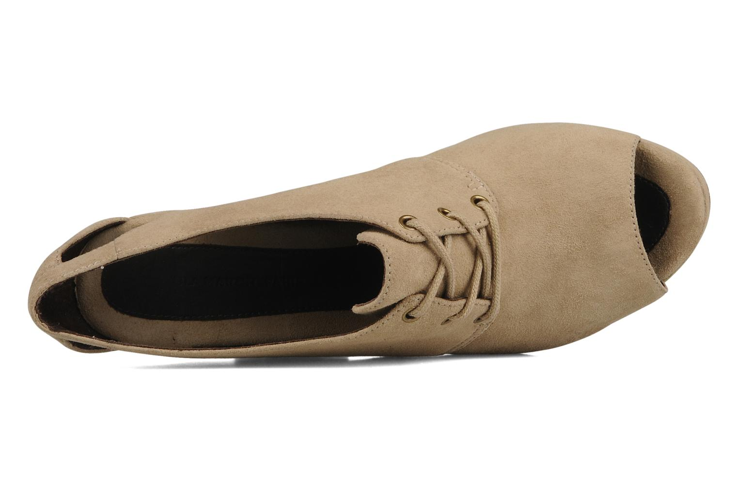 Lace-up shoes Tila March Wedge derby Beige view from the left