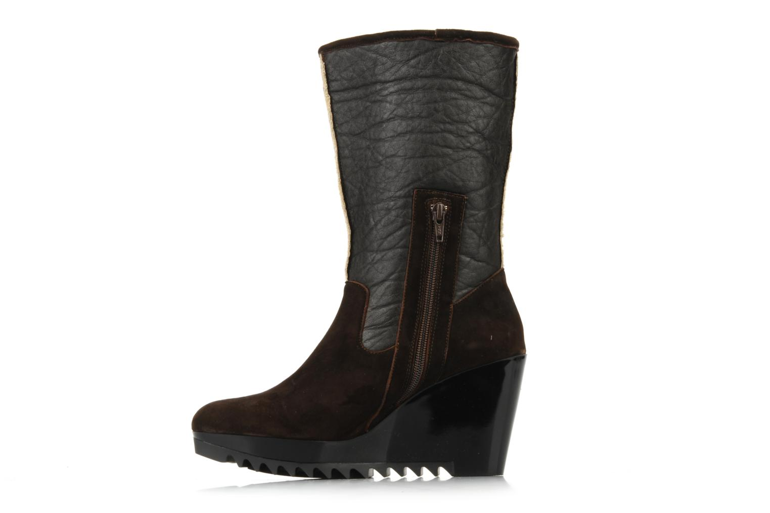 Ankle boots Espace Caida Brown front view