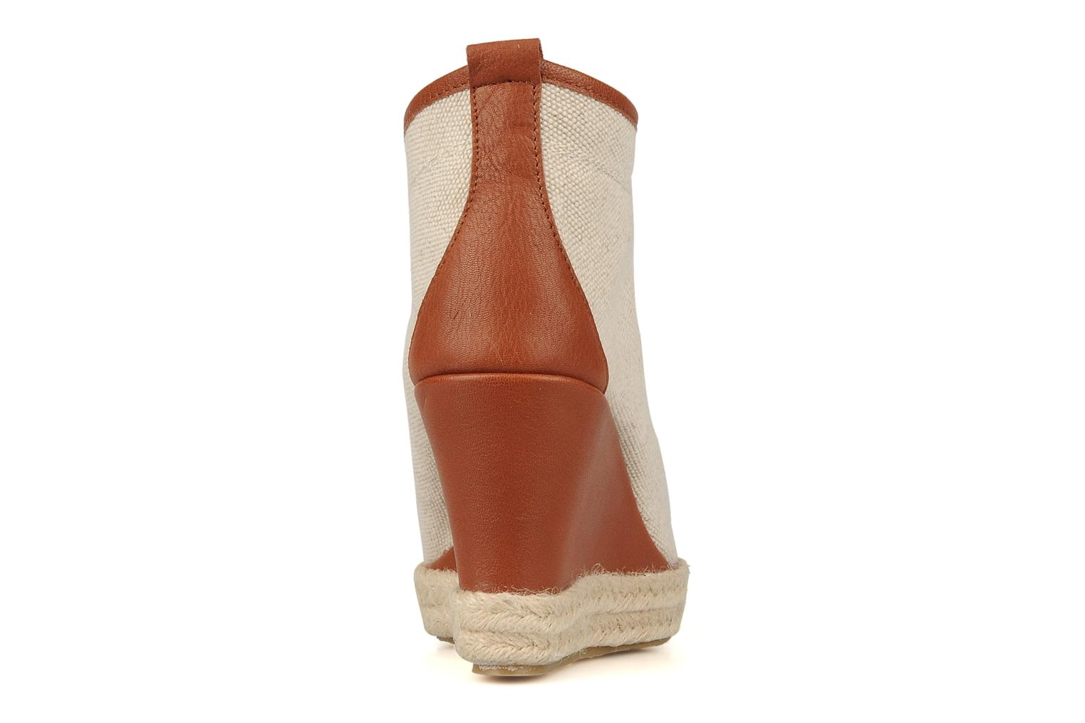 Ankle boots Eden Tolipa Beige view from the right
