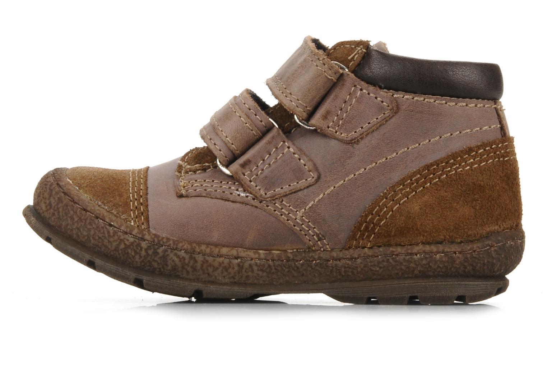 Velcro shoes Mod8 Rado Brown front view