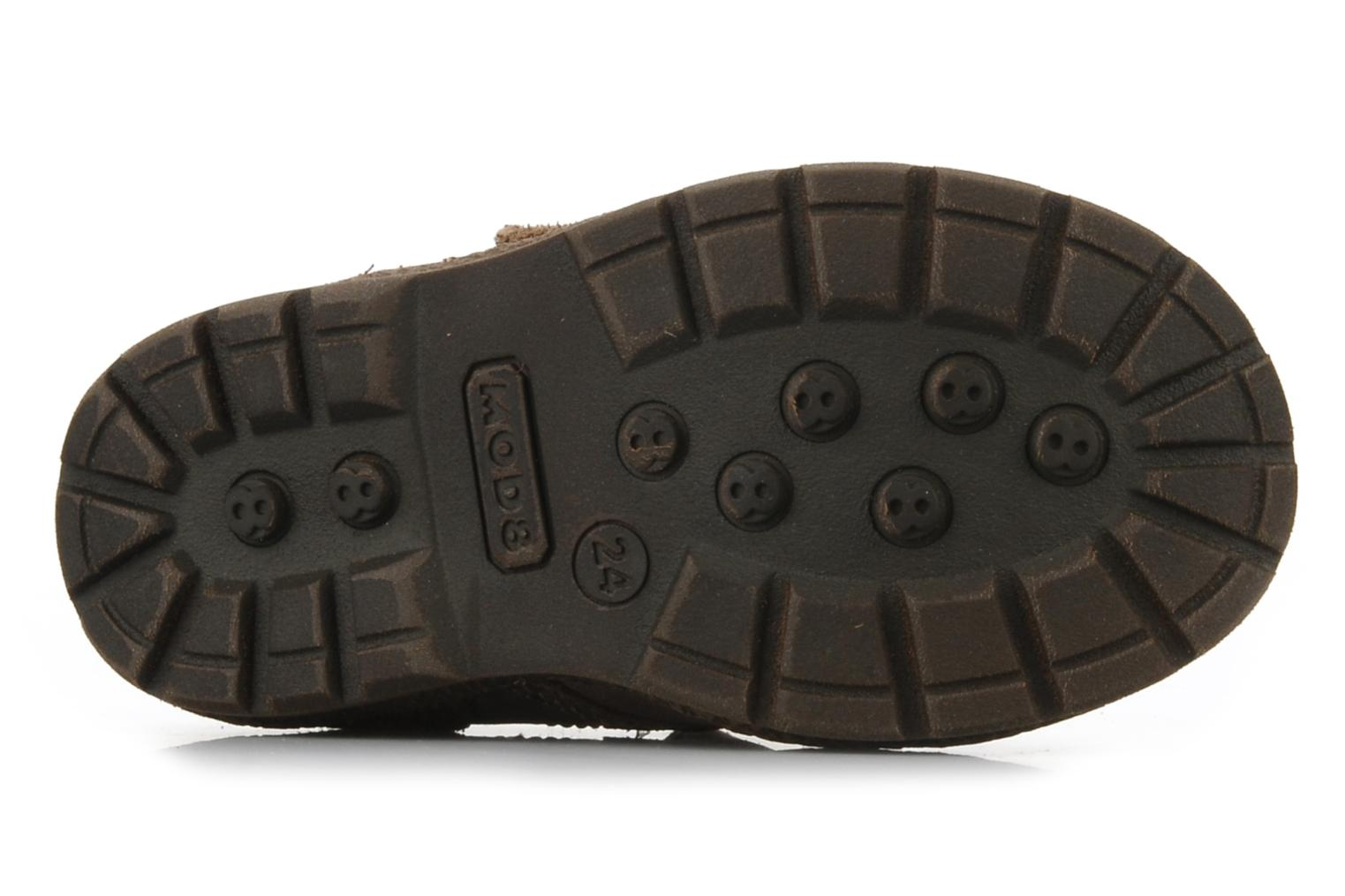 Velcro shoes Mod8 Rado Brown view from above