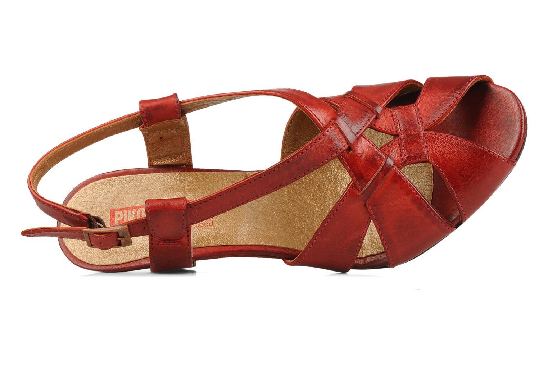 Sandales et nu-pieds Pikolinos Niza 7141 Bordeaux vue gauche