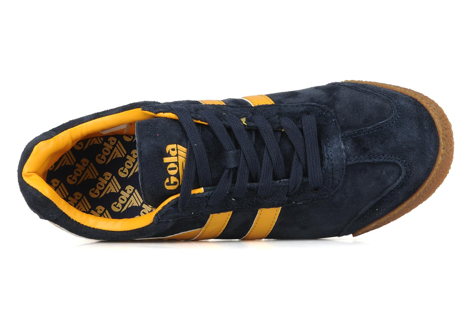 Sneakers Gola Harrier m Blauw links