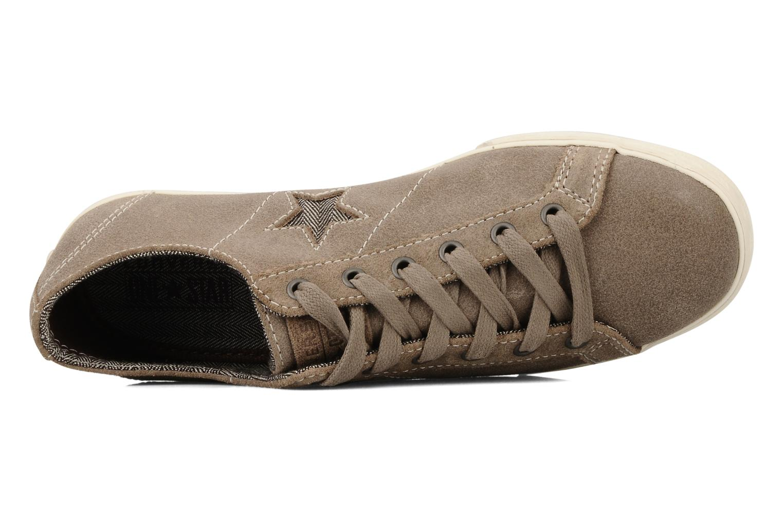 Trainers Converse One star low profile suede ox w Beige view from the left