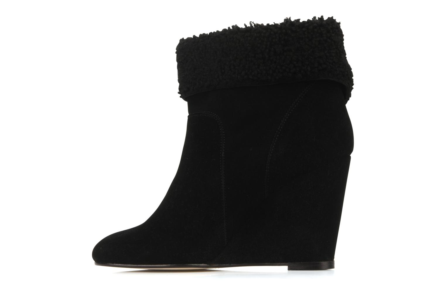 Ankle boots Tila March Wedge booty origami sherling Black front view