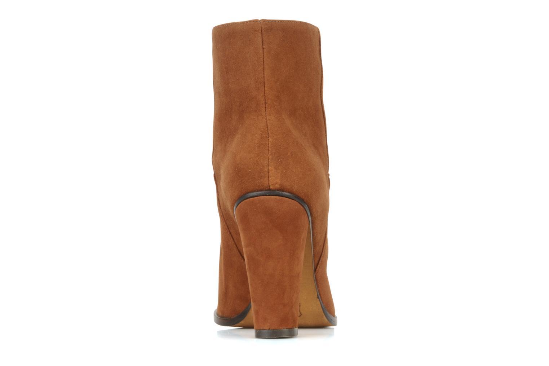 Bottines et boots Tila March Booty corolle suede Marron vue droite