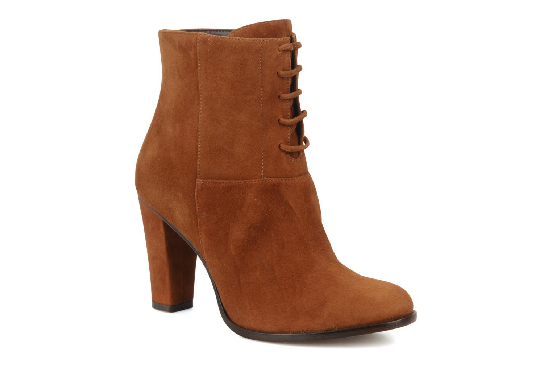 Bottines et boots Tila March Booty corolle suede Marron vue détail/paire