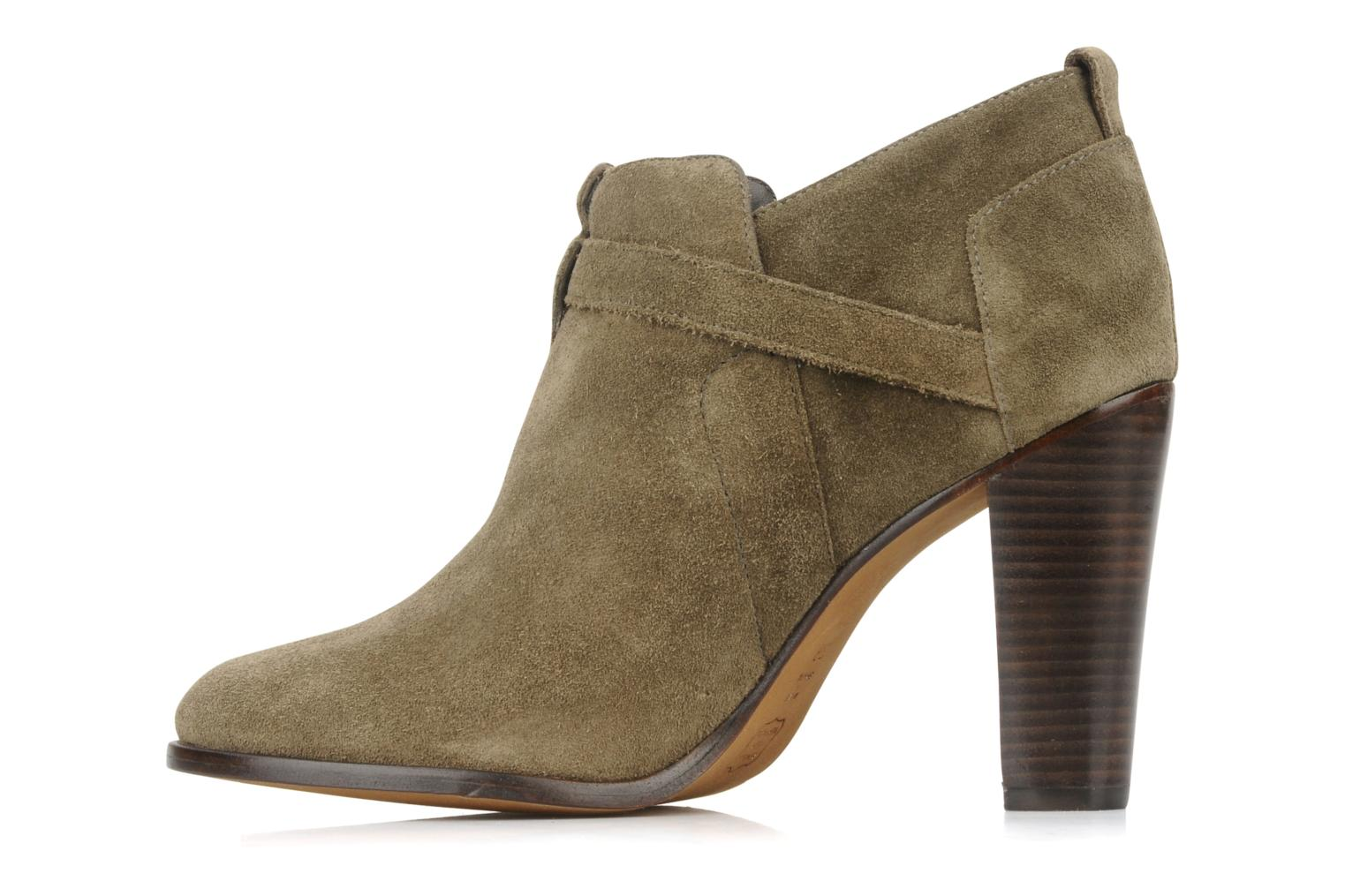 Ankle boots Tila March Booty strap suede Green front view