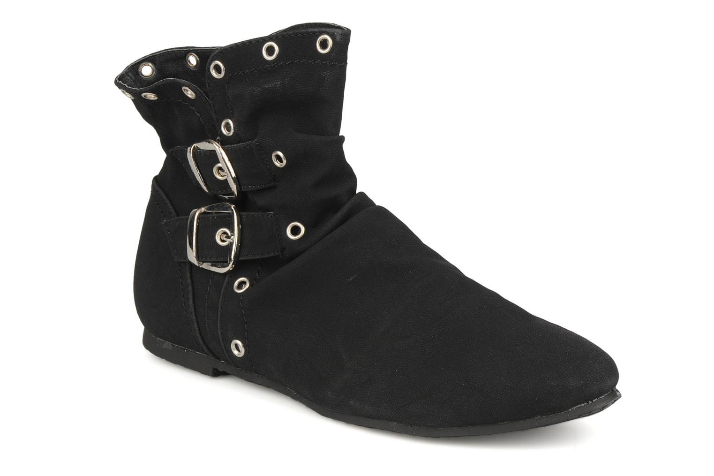 Ankelstøvler Latinas Boucli Sort detaljeret billede af skoene