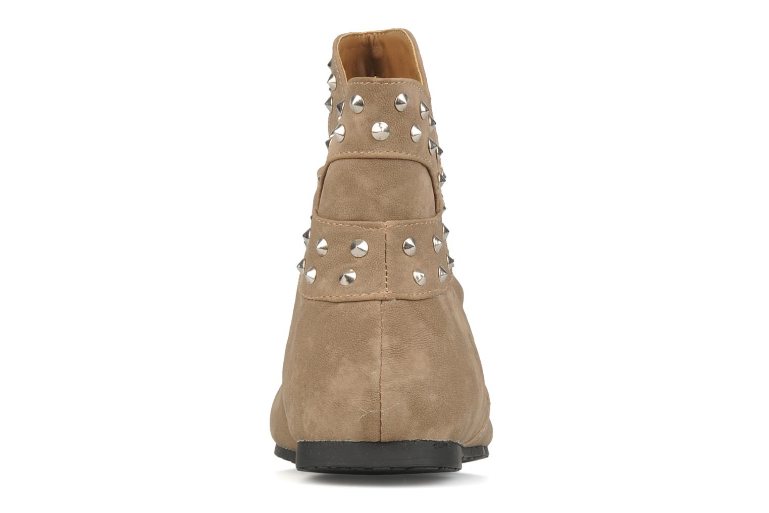 Ankle boots Latinas Botin Beige view from the right