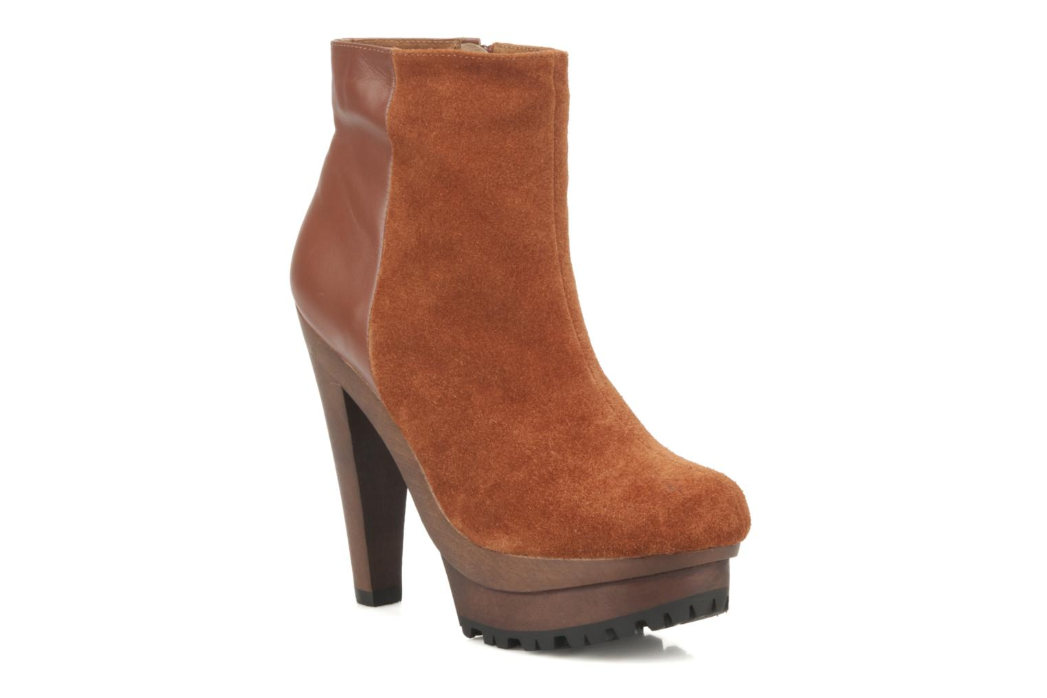 Ankle boots Friis & company Beata Brown detailed view/ Pair view
