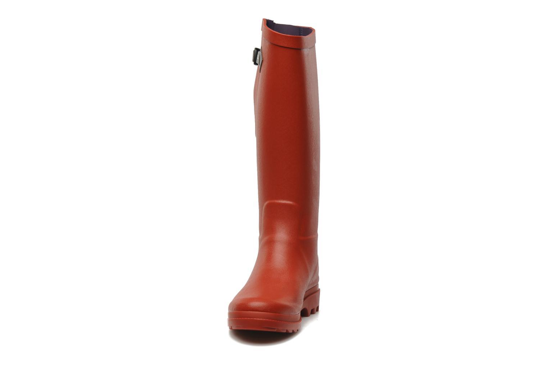 Bottes Aigle Aiglentine Rouge vue portées chaussures