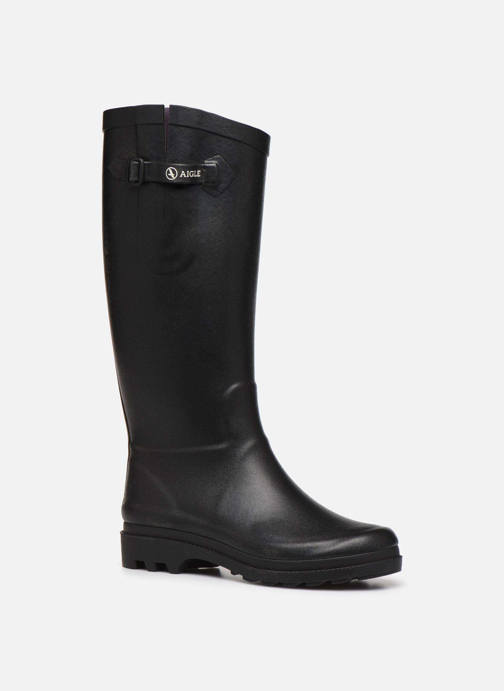 Støvler & gummistøvler Aigle Aiglentine Sort detaljeret billede af skoene
