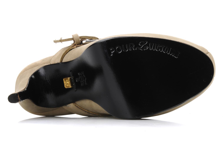 Boots en enkellaarsjes Pour La Victoire Lizzie Beige boven