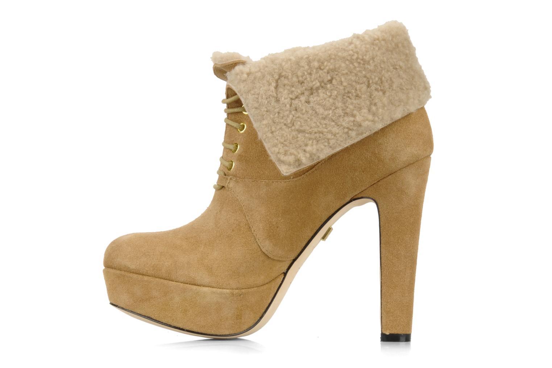Ankle boots Pour La Victoire Aileen Beige front view