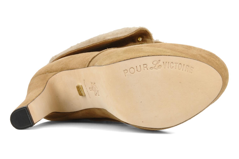 Boots en enkellaarsjes Pour La Victoire Aileen Beige boven