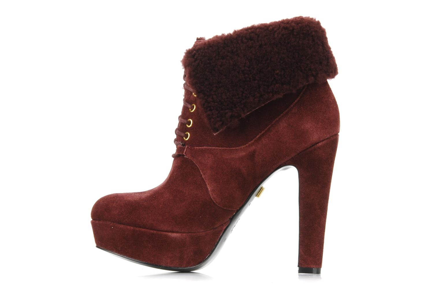 Aileen Oxblood kid suede
