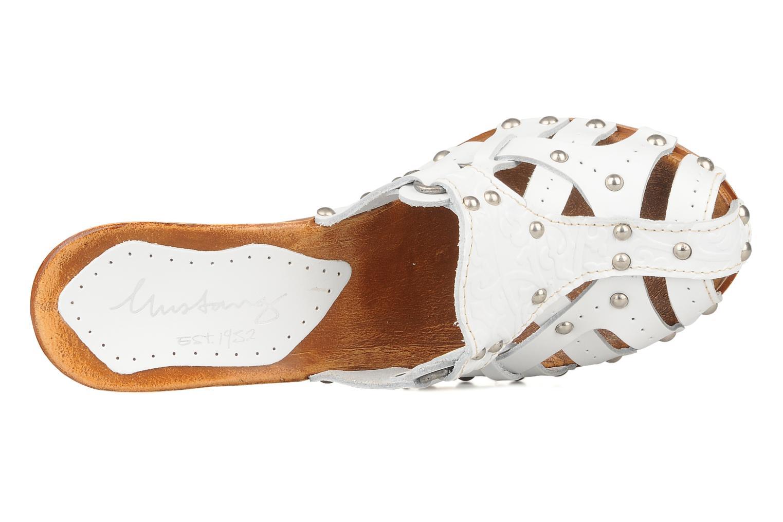 Clogs & Pantoletten Mustang shoes Bya weiß ansicht von links