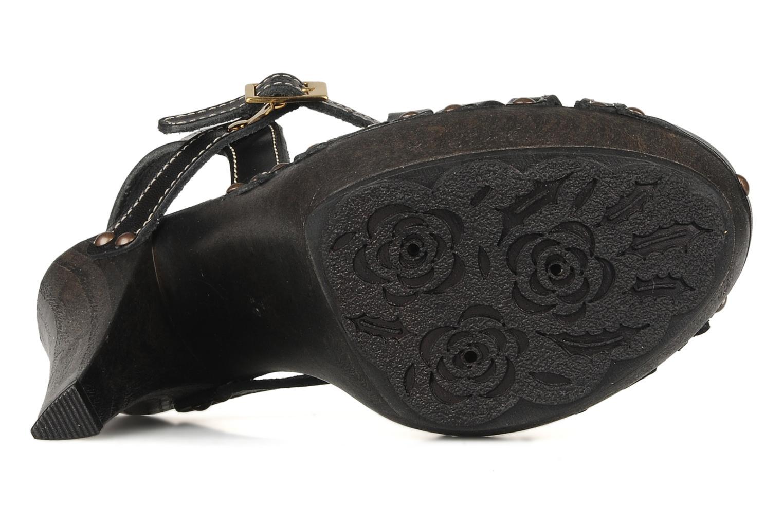 Sandalen Mustang shoes Ruy schwarz ansicht von oben