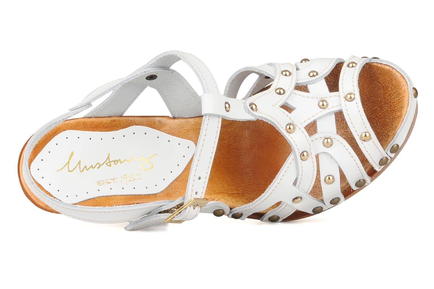 Sandals Mustang shoes Ruy White view from the left