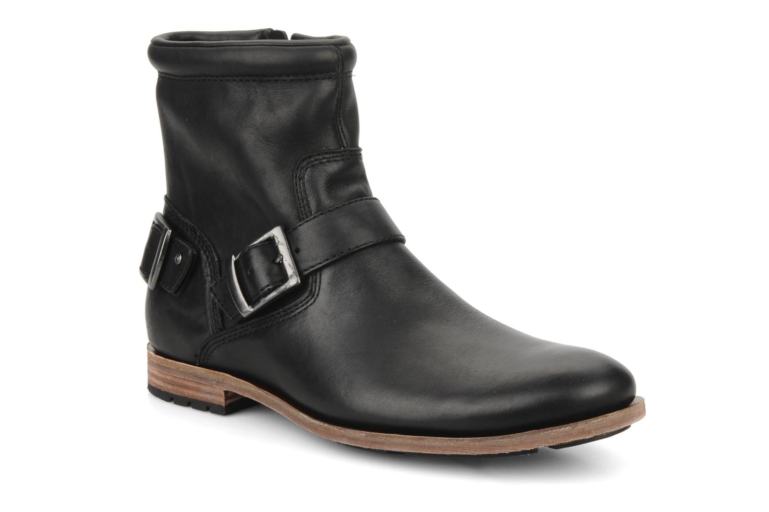 Ankle boots Rockport D2n side zip Black detailed view/ Pair view