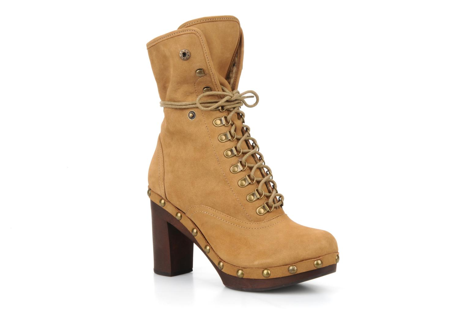 Bottines et boots No Name Mikonos boots fur Beige vue 3/4