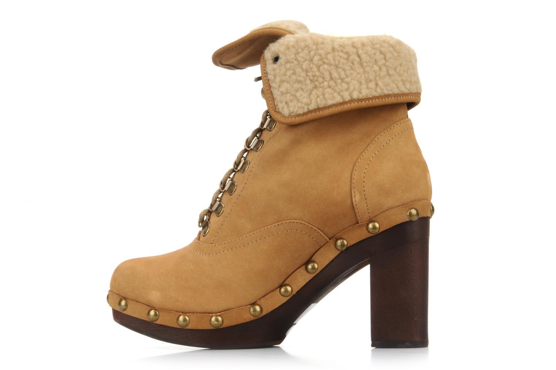 Boots en enkellaarsjes No Name Mikonos boots fur Beige rechts