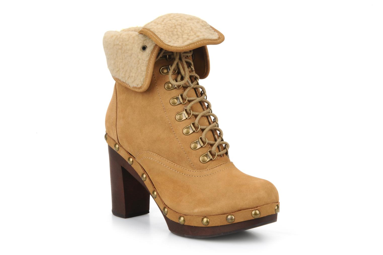 Boots en enkellaarsjes No Name Mikonos boots fur Beige detail