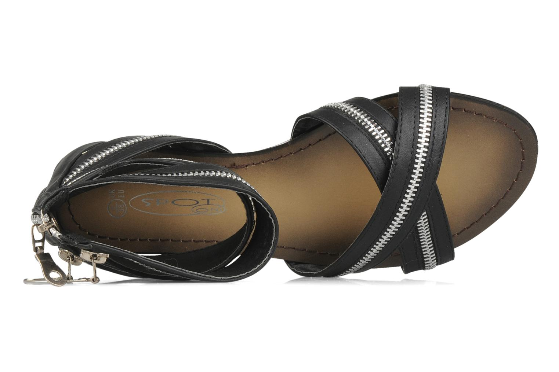 Sandalen Spot On Oli Zwart links
