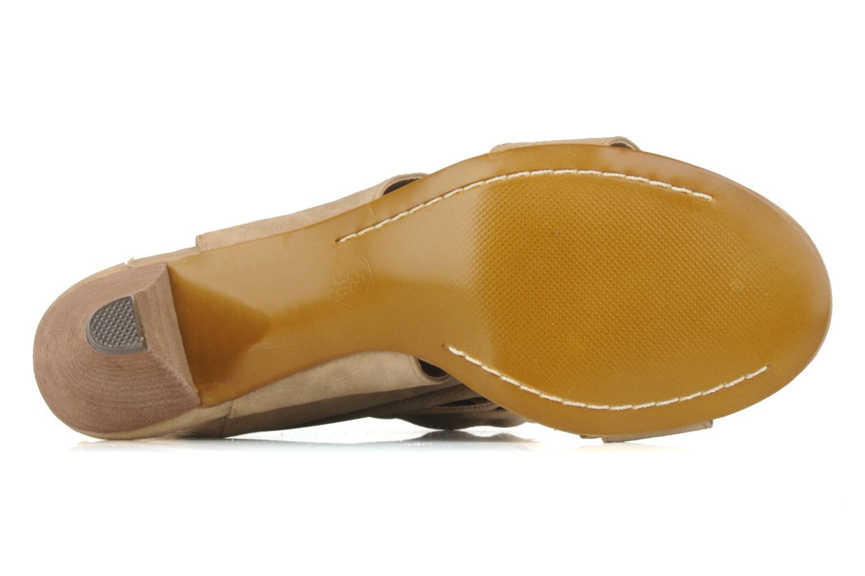 Sandales et nu-pieds Spot On Marila Beige vue haut