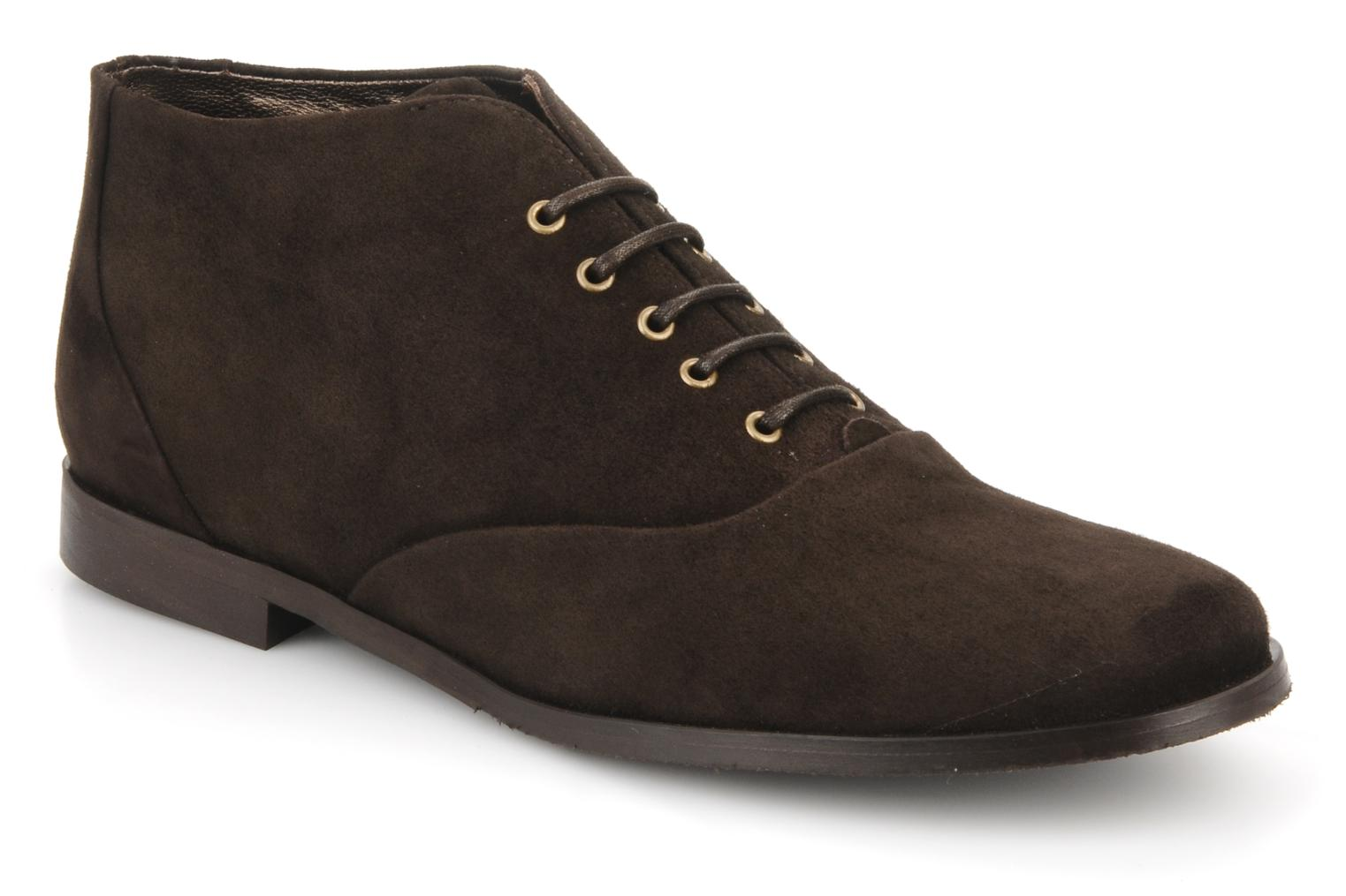 Ankle boots Georgia Rose Nonou Brown detailed view/ Pair view