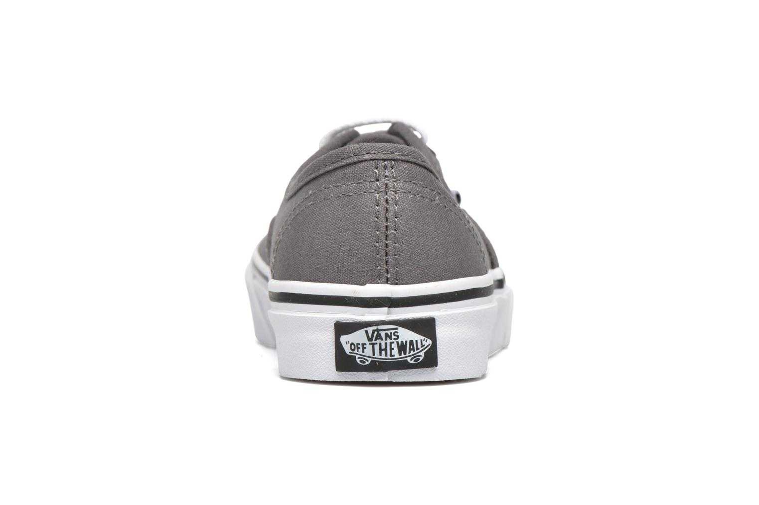 Baskets Vans Authentic E Gris vue droite